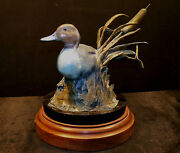 Ron Ronald Lowery Rare Autumn Winds, Bronze Sculpture Wood Base Hand Signed L@k