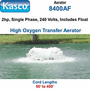 Kasco 8400af100 Aerator 2 Hp 240 Volts 100and039 Cord With Float