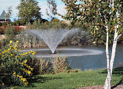 Kasco Marine 4400vfx 100 Floating Aerating Fountain 1hp 120 Volts 100and039 Cord Wps
