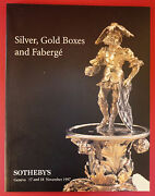 Imperial Russian Icons Faberge Gold Silver Box Enamel Sothebys Catalog Nov 1997