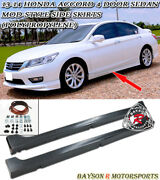 Mod-style Side Skirts Pp Fits 13-17 Accord 4dr Sedan