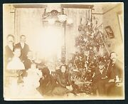 1890and039s Victorian Christmas Vintage Photo Tree Toys Doll Decorations Etc