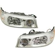 Headlight Set For 98-2002 Lincoln Town Car Left And Right With Bulb 2pc