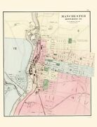 Manchester New Hampshire - Comstock 1877 - 23.00 X 30.08