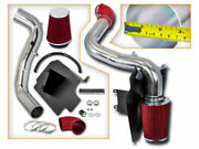 Cold Red Air Intake Kit + Heat Shield For Gmc 98-03 Sonoma 2.2l L4