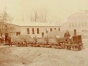 Two Large Photos Of Gold Ore Tram Railroad - Circa 1900