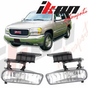 Fits 99-02 Chevy Silverado And 00-06 Suburban Tahoe Clear Lens Fog Light Hid 8000k