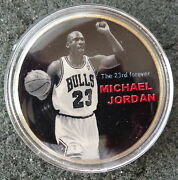 Michael Jordan 1 Oz 24 Kt .gold Plated Collectible Coin  8
