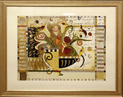 Liz Jardine Limited Edition Hand Signed Fine Art With Silver And Gold Leaf Obo