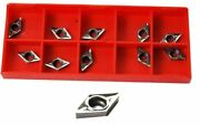 Set Of 10 Dcgt Carbide Inserts For Glanze Etc Dcmt Lathe Tools For Aluminium