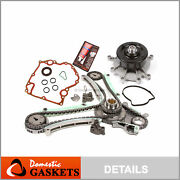 03-08 Dodge Jeep 4.7l Sohc Timing Chain Water Pump Kit+timing Cover Gasket Ngc