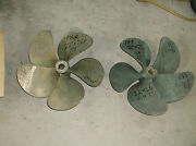 Pair Of 22 Inch X 26 Pitch Bronze 5 Blade Propellers 2.0 Inch Bore - 83d