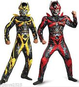 Transformers Size 8 Bumblebee Stinger Reversible Muscle Costume Medium New 2014