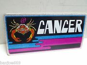 Vintage 1970and039s Car Auto Tag Plate Cancer Astrology Chroma Graphics Horoscope