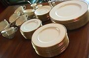 Lenox Mansfield C513 Standard Presidential Gold Trim China Serving For 12 And More