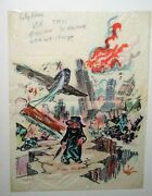 Kelly Freas Drawing Crazy Magazine 11 Preliminary Lot Of 3 June 1974