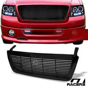For 2004-2008 Ford F150 Horizontal Billet Style Glossy Black Front Bumper Grille