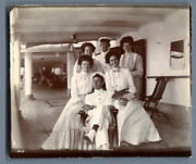 Scene On A Ship During A Journey To Panama Vintage Citrate Print. A.c. Morionand