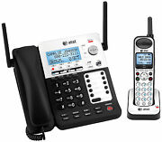 Atandt Sb67118 4 Line Corded Cordless Intercom Paging Music On Hold Phone System