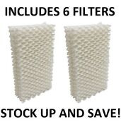 Humidifier Filter Wick For Essick Emerson Moistair Hdc-411 1211 2412 - 6 Pack