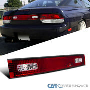 For 89-94 Nissan 240sx S13 Hatchback Red/clear Trunk Tail Light Rear Center Lamp