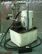 Owatonna 10,000 Psi 1/3 Hp 115 Vac Hydraulic Pump Model A Valve And Remote Control