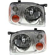 Headlight Set For 2001-2004 Nissan Frontier Base Xe Left And Right 2pc