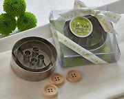 48 Cute As A Button 3d Button Cookie Cutters Baby Shower Favors