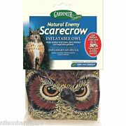 12-inflatable Plastic 2' Scarecrow Great Horned Owl Pest Repellent Decoy Ne-or