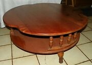Maple Round Coffee Table By Ethan Allen Rp Ct98