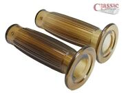 Gel Brown Handlebar Grips To Fit 1and039and039 Handlebars Cafe Racer Style