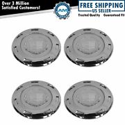 Oem Wheel Center Cap Chrome Front Rear Lh Rh Kit Set Of 4 For Cadillac Escalade