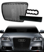 For 2008-2011 Audi A6 S6 Black Rs-sport Honeycomb Mesh Front Hood Bumper Grille
