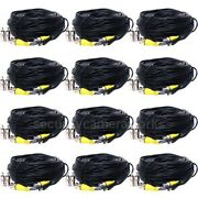12x Security Camera Video Power Cable 50 Feet Bnc Dvr Surveillance Wire Cord B1x