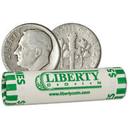 90 Silver Dimes - Roll Of 50 - 5 Face Value