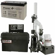Ion Jspii Preassembled Sump And Battery Backup System 2700 Gph @ 10and039 And Battery