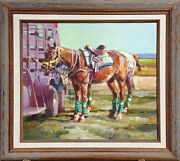 Kim Mackey Polo Horses Hand Signed Original Oil Painting On Canvas Make Offer