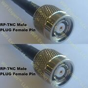 Usa-ca 35-175ft Lmr400 Rp-tnc Male To Rp-tnc Male Coaxial Rf Pigtail Cable