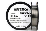 Temco Nichrome 80 Series Wire 30 Gauge 50 Ft Resistance Awg Ga