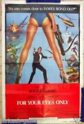 For Your Eyes Only James Bond 007 Roger Moore Original Movie Poster 100 X 70