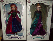 Limited Edition Disney Anna And Elsa Frozen Doll 17 Le 5000 New