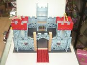 90and039s Vintage Wooden Building Toy Large Castle Medieval Mint 18x20