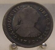 1782 Ff Mexico Silver 1 Real Old Silver World Coin Mexico City Mint Mark