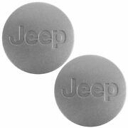 Oem 5ht59pakac Wheel Hub Center Cap Silver Left Right Pair For Jeep New