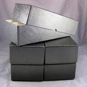 5 Black Double Row Cardboard Coin Slab Storage Boxes For Ngc Pcgs And Other Slabs
