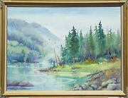Loraine Miller Quiet Cove Original Watercolor And Mixed Media Painting On Canvas