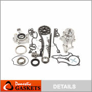 85-95 Toyota 2.4l Timing Chain Kit2 Steel Guides+oilandwater Pump 22r 22re 22rec