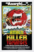 Attack Of The Killer Tomatoes Framed Canvas Art Movie - 24x16
