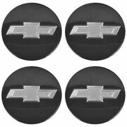 Oem 22791586 Wheel Center Cap Set Of 4 Black W/ Silver Bowtie For Camaro Volt