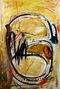 Shana Dominguez Almost Human Hand Signed Original Acrylic Painting On Paper